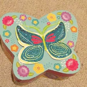 Butterfly storage container.
